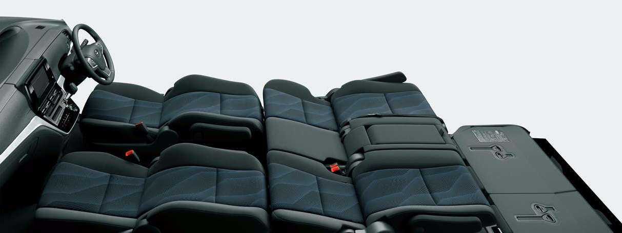 6:4 Split Tip-up Seat 8Seater